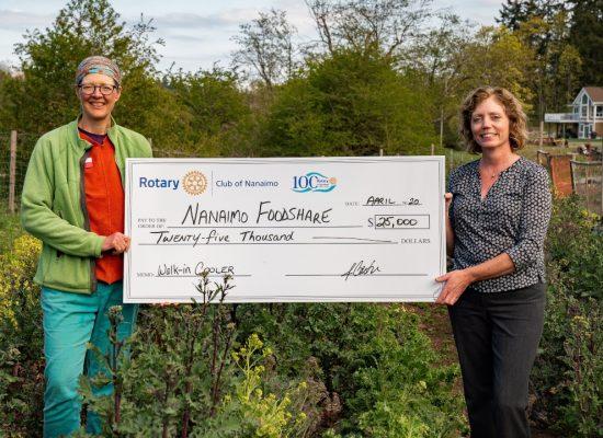 Nanaimo Foodshare Society receives $25,000 donation from Rotary Club of Nanaimo